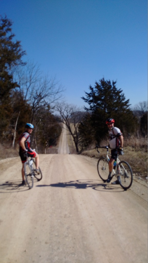 Robby and Chuck Re-grouping for More Hills 20160220